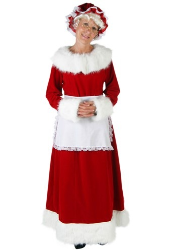 Click Here to buy Womens Plus Size Deluxe Mrs Claus Costume from HalloweenCostumes, CDN Funds & Shipping