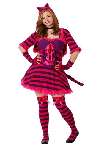 Plus Size Sexy Wonderland Cat Costume | Cheshire Cat Costume Womens