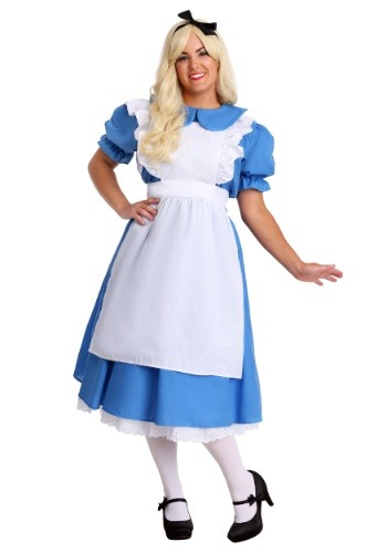 Click Here to buy Deluxe Plus Size Alice Costume from HalloweenCostumes, CDN Funds & Shipping