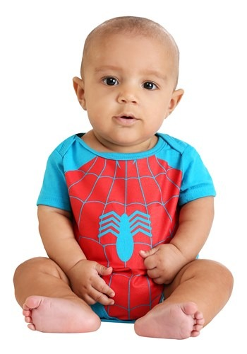 Infant Marvel Spider-Man and Incredible Hulk Onesie