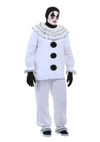 Click Here to buy Plus Size Vintage Pierrot Clown Costume 2X from HalloweenCostumes, CDN Funds & Shipping