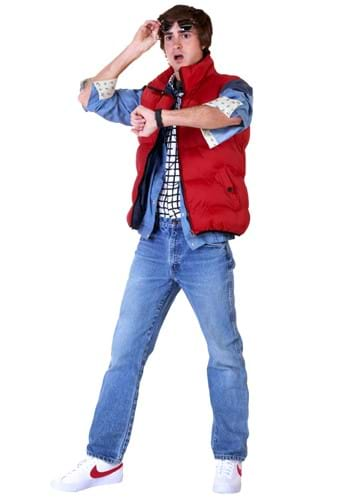Click Here to buy Back to the Future Marty McFly Plus Size Mens Costume 3X from HalloweenCostumes, CDN Funds & Shipping