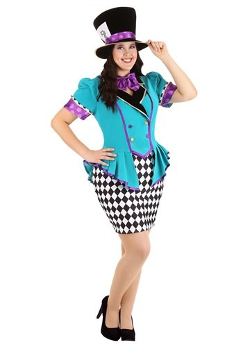 Click Here to buy Plus Size Marvelously Mad Hatter Womens Costume from HalloweenCostumes, CDN Funds & Shipping