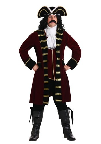 Click Here to buy Plus Size Deluxe Captain Hook Costume from HalloweenCostumes, CDN Funds & Shipping