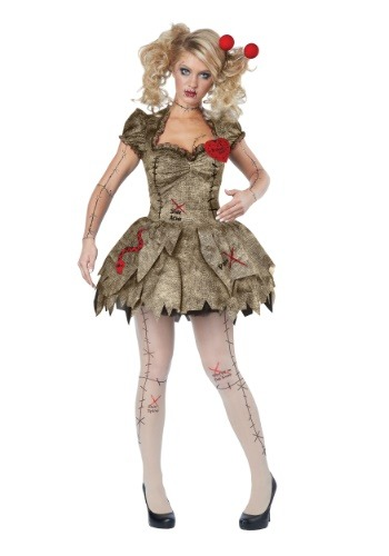 Click Here to buy Voodoo Dolly Womens Costume from HalloweenCostumes, CDN Funds & Shipping