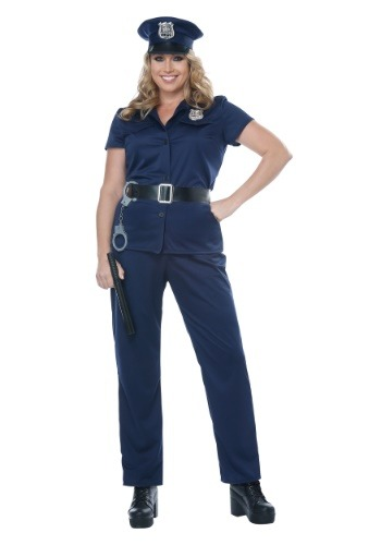 Click Here to buy Police Plus Size Woman Costume from HalloweenCostumes, CDN Funds & Shipping