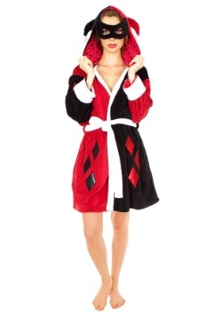 Harley Quinn Diamonds Mask Hooded Robe
