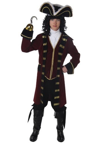 Click Here to buy Teen Captain Hook Costume from HalloweenCostumes, CDN Funds & Shipping