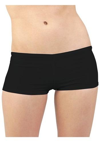 Plus Size Black Hot Pants