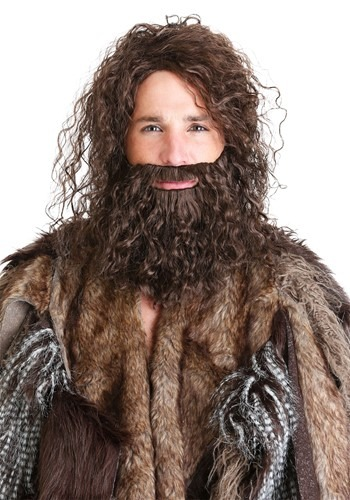 Caveman Beard and Wig Set