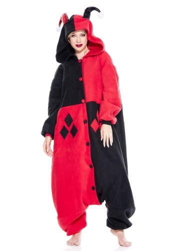 Click Here to buy Harley Quinn Jester Pajama Costume from HalloweenCostumes, CDN Funds & Shipping