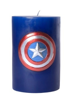 Captain America Themed Sculpted Insignia Candle