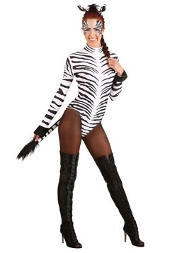 Women's Sleek Zebra Costume
