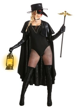 Women's Eerie Plague Doctor Costume