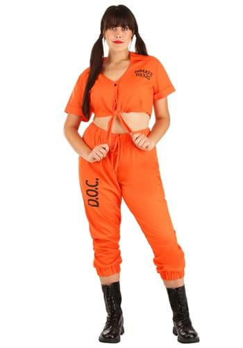 Orange Inmate Prisoner Plus Size Costume