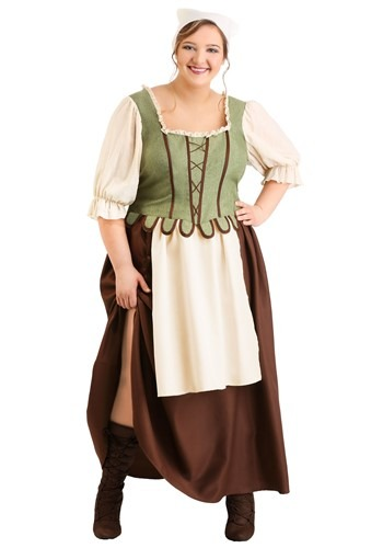 Click Here to buy Plus Size Medieval Pub Wench Womens Costume from HalloweenCostumes, CDN Funds & Shipping