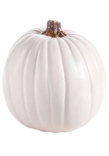 "Carvable 9"" Artificial Cream and White Pumpkin"