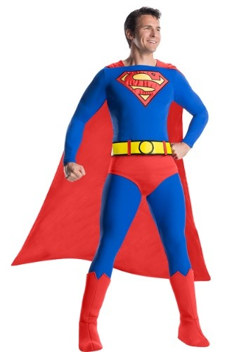 Click Here to buy Classic Mens Premium Superman Costume from HalloweenCostumes, CDN Funds & Shipping
