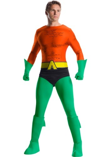 Click Here to buy Classic Premium Aquaman Mens Costume from HalloweenCostumes, CDN Funds & Shipping