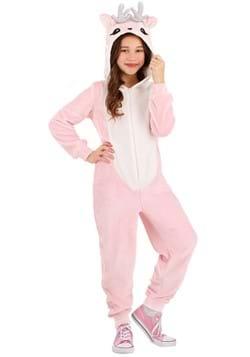 Girls Pink Deer Costume