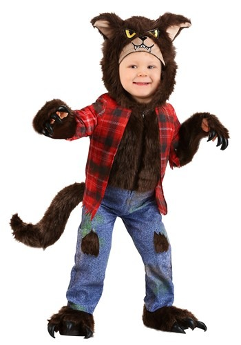 Click Here to buy Toddler Werewolf Brown Costume from HalloweenCostumes, CDN Funds & Shipping