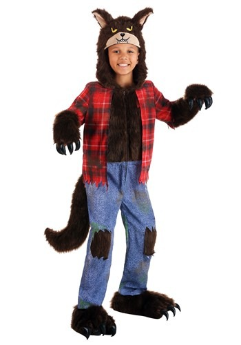 Kids Costume Brown Werewolf