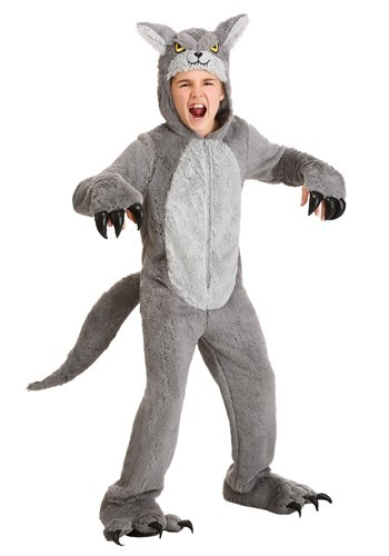 Grey Wolf Kids Costume