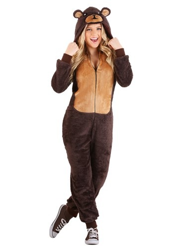 Adult Jumpsuit Costume Brown Bear