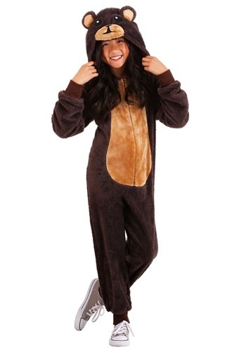 Kids Jumpsuit Costume Brown Bear