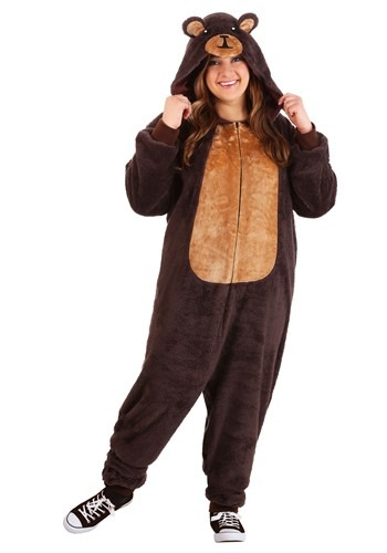 Click Here to buy Plus Size Jumpsuit Costume Brown Bear from HalloweenCostumes, CDN Funds & Shipping