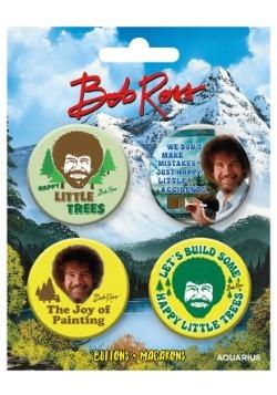 Bob Ross 4-Pack Button Set