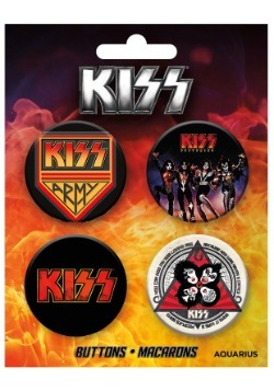 KISS 4-Pack Button Set
