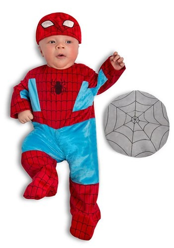 Click Here to buy Spider-Man Costume for Babies from HalloweenCostumes, CDN Funds & Shipping