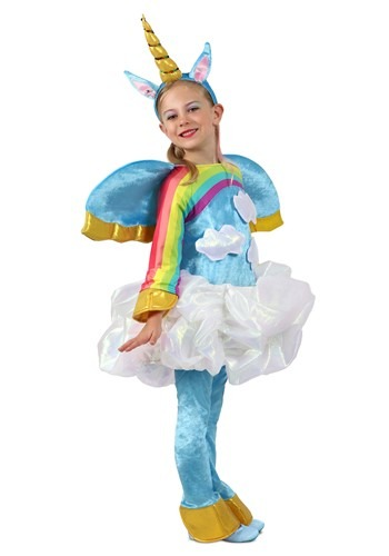 Girls unicorn in the Clouds Candy Catcher Costume