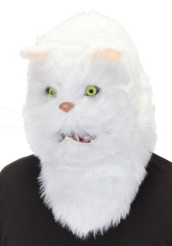 White Cat Mouth Mover Mask