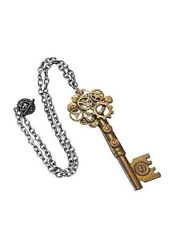 Large Key Gear Necklace