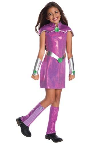 Click Here to buy DC Superhero Girls Deluxe Starfire Girls Costume from HalloweenCostumes, CDN Funds & Shipping