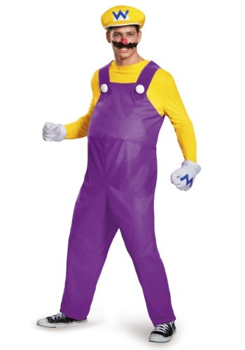 Click Here to buy Wario Deluxe Adult Costume from HalloweenCostumes, CDN Funds & Shipping