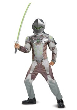 Overwatch Genji Classic Boys Muscle Costume