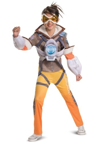 Overwatch Tracer Deluxe Costume for Girls