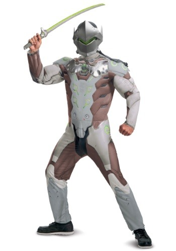 Overwatch Genji Adult Muscle Costume