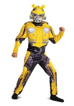 Boy's Bumblebee Transformer Movie Muscle Costume
