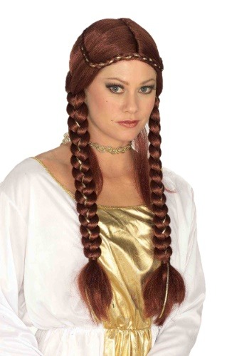 Click Here to buy Womens Renaissance Auburn Braided Wig from HalloweenCostumes, CDN Funds & Shipping