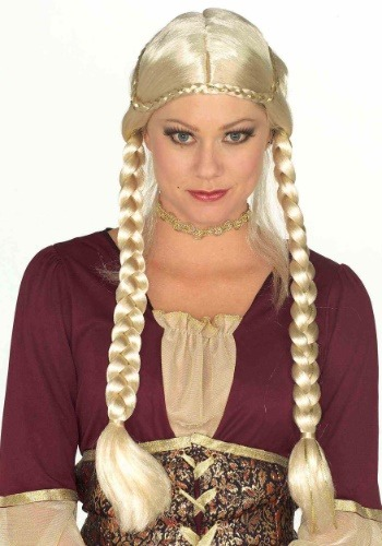 Blonde Renaissance Womens Braided Wig
