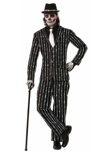 Bone Pin Stripe Mens Suit Costume