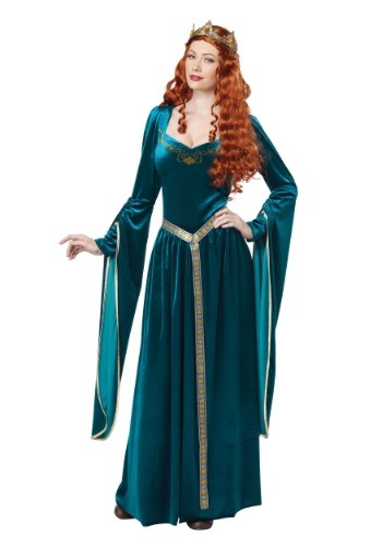 Click Here to buy Lady Guinevere Womens Teal Costume from HalloweenCostumes, CDN Funds & Shipping