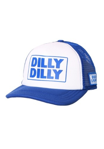Dilly Dilly Bud Light White/Blue Trucker Hat