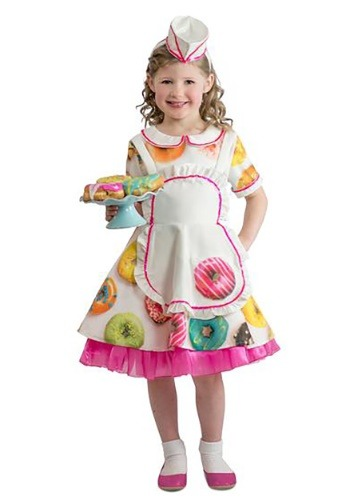 Click Here to buy Toddler Donut Waitress Costume from HalloweenCostumes, CDN Funds & Shipping