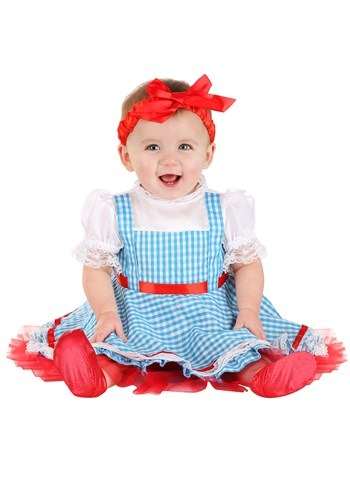 Click Here to buy Wizard of Oz Dorothy Costume for Babies from HalloweenCostumes, CDN Funds & Shipping