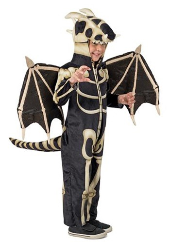 Click Here to buy Kids Skeleton Dragon Costume from HalloweenCostumes, CDN Funds & Shipping